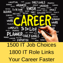 1500 IT Job Roles. 1800 IT Role Links.